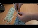 плетение из газет елка