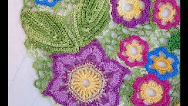 Ирландское кружево мастер класс Irish crochet Листик Ласточкин Хвост