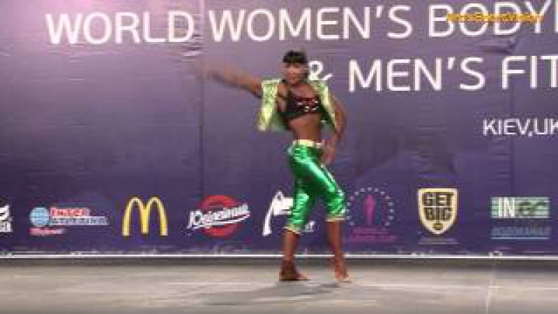 2013 World IFBB - VOLOKH Olga (RUS) Women's FITNESS up to 163 cm - Round 1 (Ольга Волох)