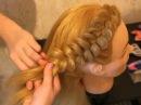 Плетение косичек - Боковая коса с цветком