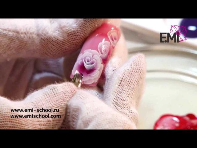 мастер-класс Секреты китайской росписи с EMPASTA E.Mi One Stroke пион, китайские розочки, кружево