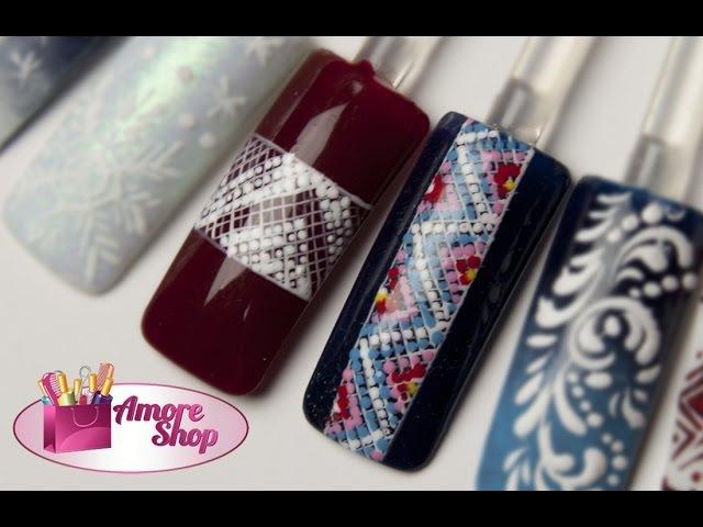 Дизайн ногтей гель-лаками и гель-красками Мозаика. Мастер-класс от AmoreShop.