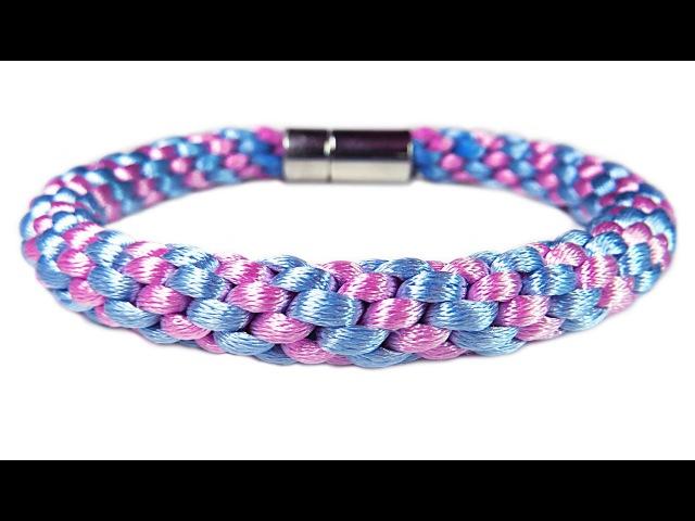 DIY Kumihimo blacelet Браслет Кумихимо из 8 нитей своими руками. Как сделать Кумихимо диск.