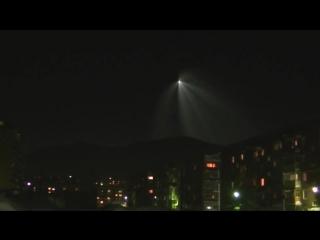 В Шерегеше сняли полет ракеты с «Байконура»