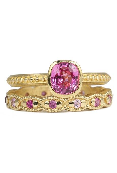 IxFqOST6 rA - Розовые обручальные кольца (25 фото)