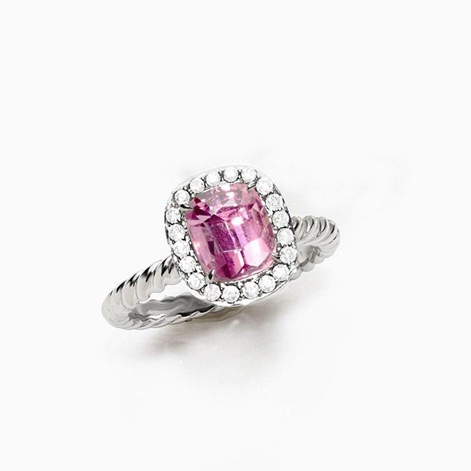 HwdyqSDS Mo - Розовые обручальные кольца (25 фото) - 2