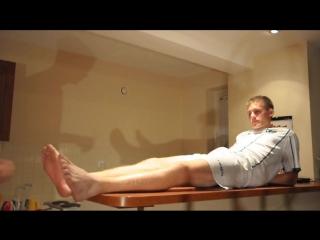 NGH представляет: [Polish Boys Feet] Barefoot Footballer Crying