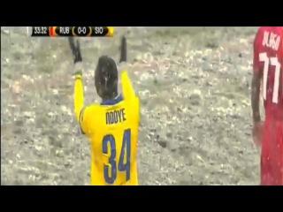 Birama Ndoye Shocking Red Card HD | Rubin Kazan 0-0 Sion - 26-11-2015
