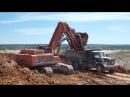 Kraneks EK 450 FS loading Kraz trucks part 1
