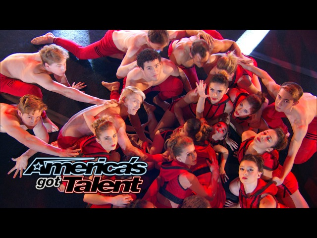 AcroArmy: Acrobatic Dancers Perform With Travis Barker - America's Got Talent 2014 Finale