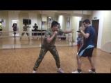 Тренировка по кикбоксингу