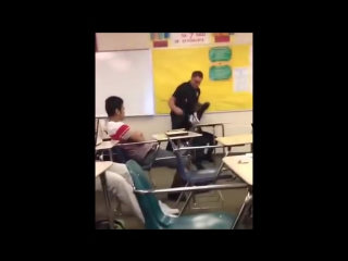 Cop attacks student at spring valley high school (raw video)