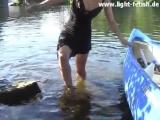 Hot Day T Strap Heels Swimming Wetlook