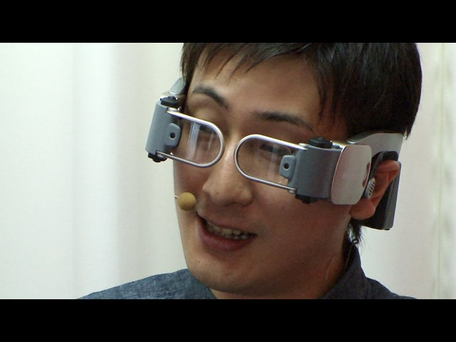 Docomo Hands-Free Videophone for futuristic glasses-type HMD devices DigInfo