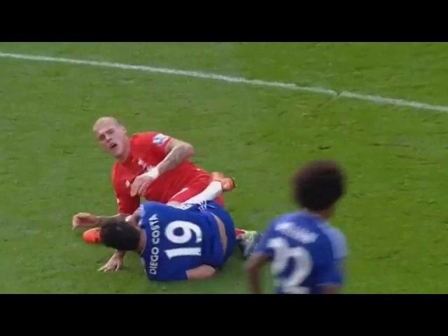 Diego Costa done it again, this time with Skrtel.