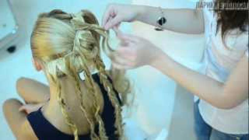 Вечерняя прическа с накладными волосами 1
