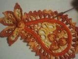 Пейсли или индийский огурец. Ирландское кружево. Вязание крючком. Irish lace. Paisley. Часть 1.