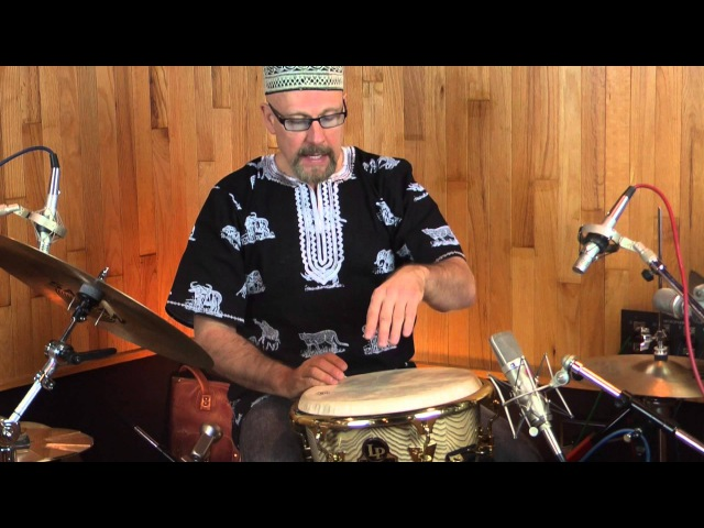 World Percussionist Tom Teasley Jazz Drumset Fills For Djembe