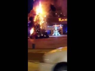 Сгорела елка в Экибастузе
