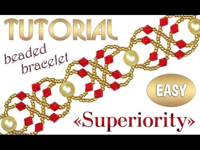 Tutorial: Superiority beaded bracelet [EASY] / Простой браслет из бисера Превосходство