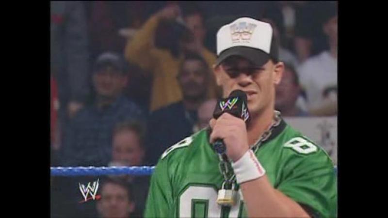 WWE Smackdown 2004-01-22 - Brock Lesnar, Matt Morgan Rhyno vs. Chris Benoit John Cena (3 on 2 Handicap Match)