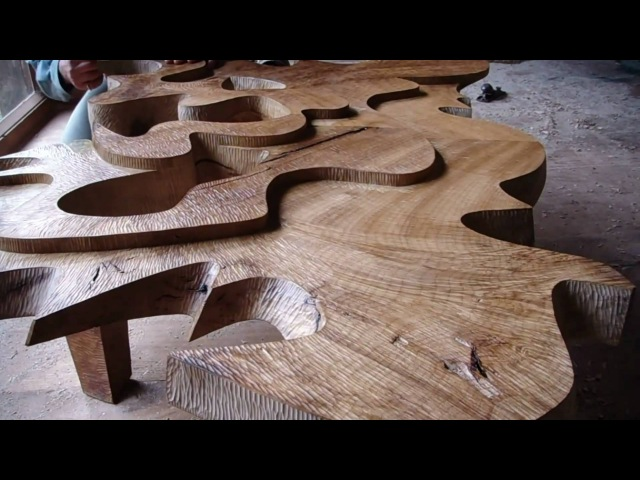 I will be completing the four sculptural tables. David Groth documentary, chapter 9 of 9.