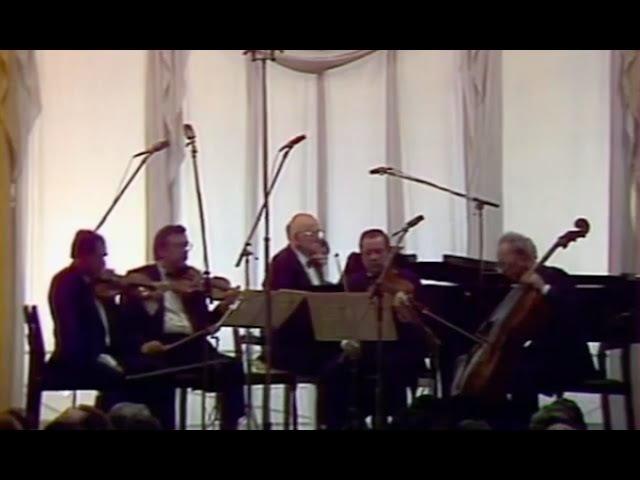 Sviatoslav Richter Borodin Quartet play Franck Piano Quintet- video 1986