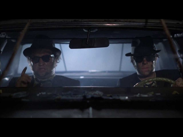 The Blues Brothers 106 miles to Chicago