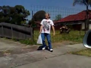 Funny drunk old man tries to walk