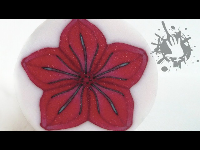 Polymer clay tutorial murrina fiore rosso / millefiori cane Red flower