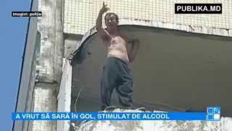 Priviri îngrozite la Buiucani! Un bărbat a încercat să sară de la etajul nouă