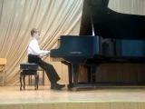 Дейнега Максим 10 лет. Моцарт, Соната №12 (1я часть), Фа-мажор