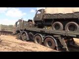 Soviet artillery tractor ATS-59 pulls army truck Tatra and Praga V3S -