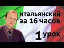 Полиглот итальянский за 16 часов. Урок 1 с нуля. Уроки итальянского языка с Петров ...