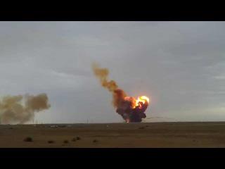 Очень неудачный запуск ракеты военными РФ в Сирии! Попали по своим!!! 23.10.2015