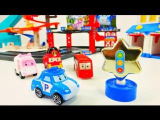 Видео для детей. Поли робокар и друзья. Конкурс на лучшую машинку. Видео с игрушками.