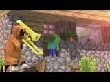 Мультики в Minecraft - КОГДА СТИВА НЕТ ДОМА (Мульт,Анимация) ( 360p )
