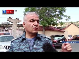 Первый заместитель министра внутренних дел Армении Унан Погосян ответил на вопросы журналиста 6 июля 2015 года