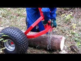 Прицеп-лесовоз для квадроцикла ATV | UTV