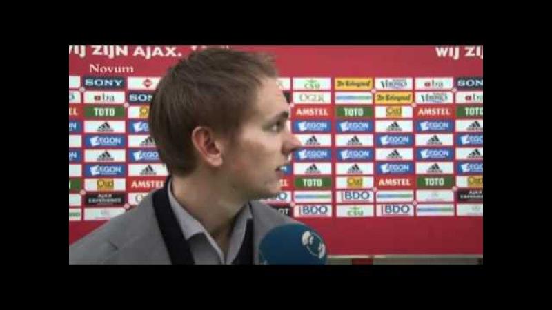 Siem de Jong ziet broer Luuk scoren tijdens interview