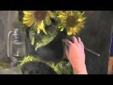 Научиться рисовать подсолнухи малом, Сахаров Игорь, уроки живописи