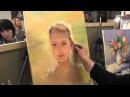 солнечный портрет девочки научиться рисовать, основы портрета маслом, художник Сахаров