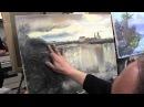 пишем храм у пруда маслом, уроки рисования и живописи в Питере и Москве, художник Сахаров
