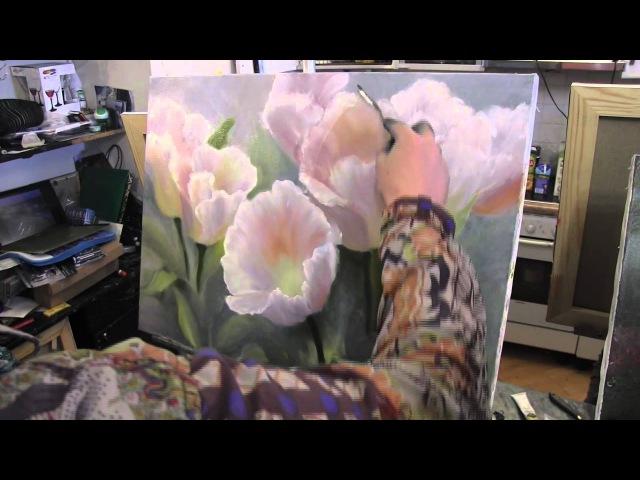 Цветы научиться писать , рисовать маслом, уроки графики и живописи в Москве, Сахаров