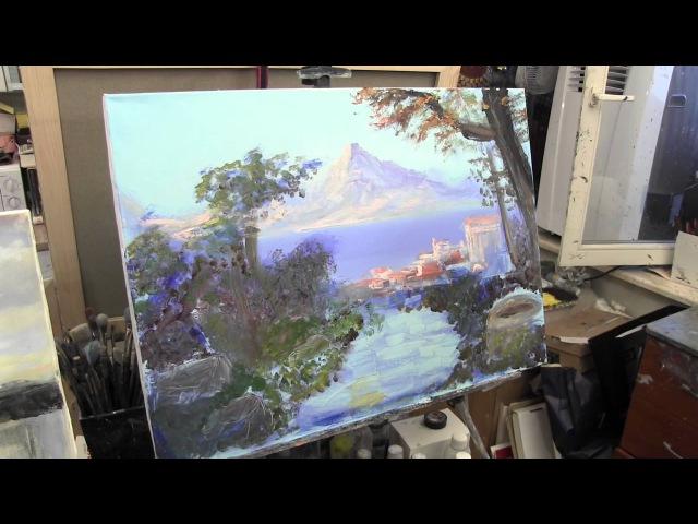 пишем богатый пейзаж, уроки для начинающих художников, Сахаров