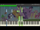 MLP: FiM - Friends Are Always There For You - Synthesia Piano Cover