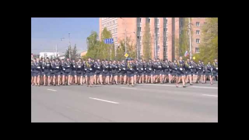 Марш курсанток рязанской Академии ФСИН