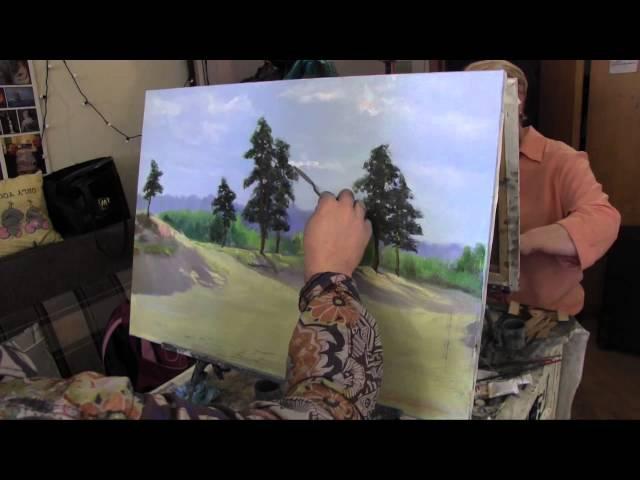 Научиться рисовать лес, деревья,курсы живописи маслом, Сахаров