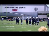 Kenny Vaccaro picks off Drew Brees New Orleans Saints NFL Training Camp 2014