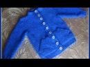 Жакет с прорезным наклонным карманом Часть 1 вяжем полочку и карман